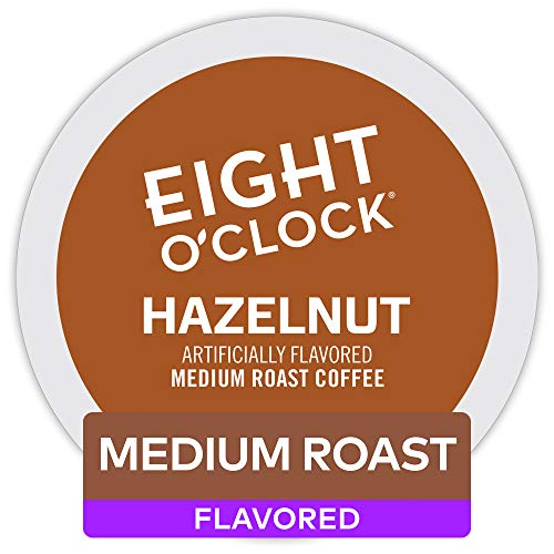 (Eight O'Clock Coffee Hazelnut, Single Serve Coffee K-Cup Pod, Medium Roast, 72)