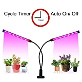 LED Grow Light Cycle Timer(3/9/12 hrs) 3 Lighting Mode and 5 Level Dimmable