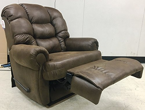 (1407-04-22 Lane Stallion Wallsaver Big Man Comfortking Recliner. Rated for Weights of up to 500 lbs. Extended Lenght 79 inches. Free Curbside Delivery. (Fabric))