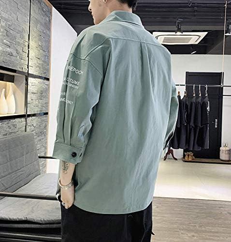 シャツ メンズ 夏服 七分袖 吸汗速乾 通気性 汗染み防止 快適な 軽い 柔らかい かっこいい ワイシャツ カジュアル シンプル オシャレ 春夏秋冬対応