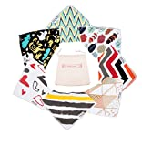 Image of Stylish Baby Bandana Drool Bibs – For Boys and Girls - 7 Units Set, One for Each Day of The Week - For Drooling and Teething, 100% Organic Cotton Bib Set - Cute Newborn and Cool Baby Shower Gift Set
