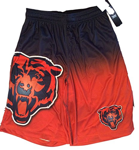 FOCO NFL Chicago Bears Football Team Logo Gradient Big Logo Training Shorts, Team Color, X-Large