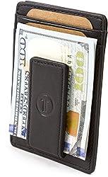 Travami RFID Blocking Slim Minimalist Front Pocket Wallet with Money Clip