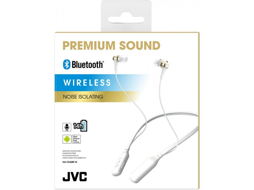 Amazon.com: JVC HAFX42BT Premium Sound Bluetooth Earphones w/Neck Band Support - Gold: Electronics