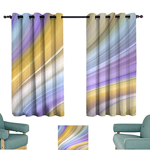 duction Curtain Abstract Marbled Background Decorative Painted Texture Liquid Paint marbling Effect Agate Macro Lines Wallpaper Darkening and Thermal Insulating ()