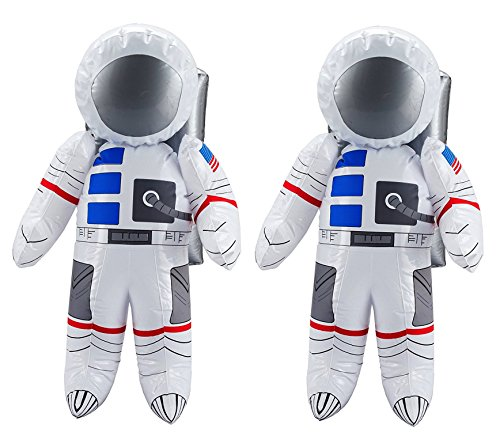 [US Toy Inflatable Astronaut Toy (2-Pack)] (Inflatable Astronaut)
