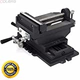 COLIBROX--6'' Cross Slide Vise Drill Press Vises Clamp 2-Way Work Bench Top Mounting Shop. Cross slide vise is designed for precision drilling of metal and woodworking.