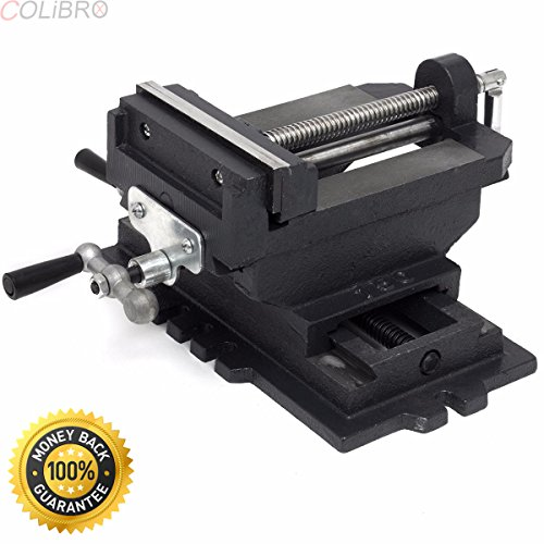 COLIBROX--6'' Cross Slide Vise Drill Press Vises Clamp 2-Way Work Bench Top Mounting Shop. Cross slide vise is designed for precision drilling of metal and woodworking. by COLIBROX