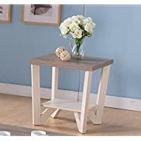 161602ET Smart Home Ivory & Dark Taupe End Table