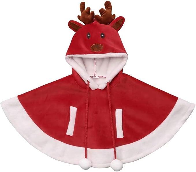 Loalirando Capa de Princesa Disfraz Navidad para Bebé Niña con ...