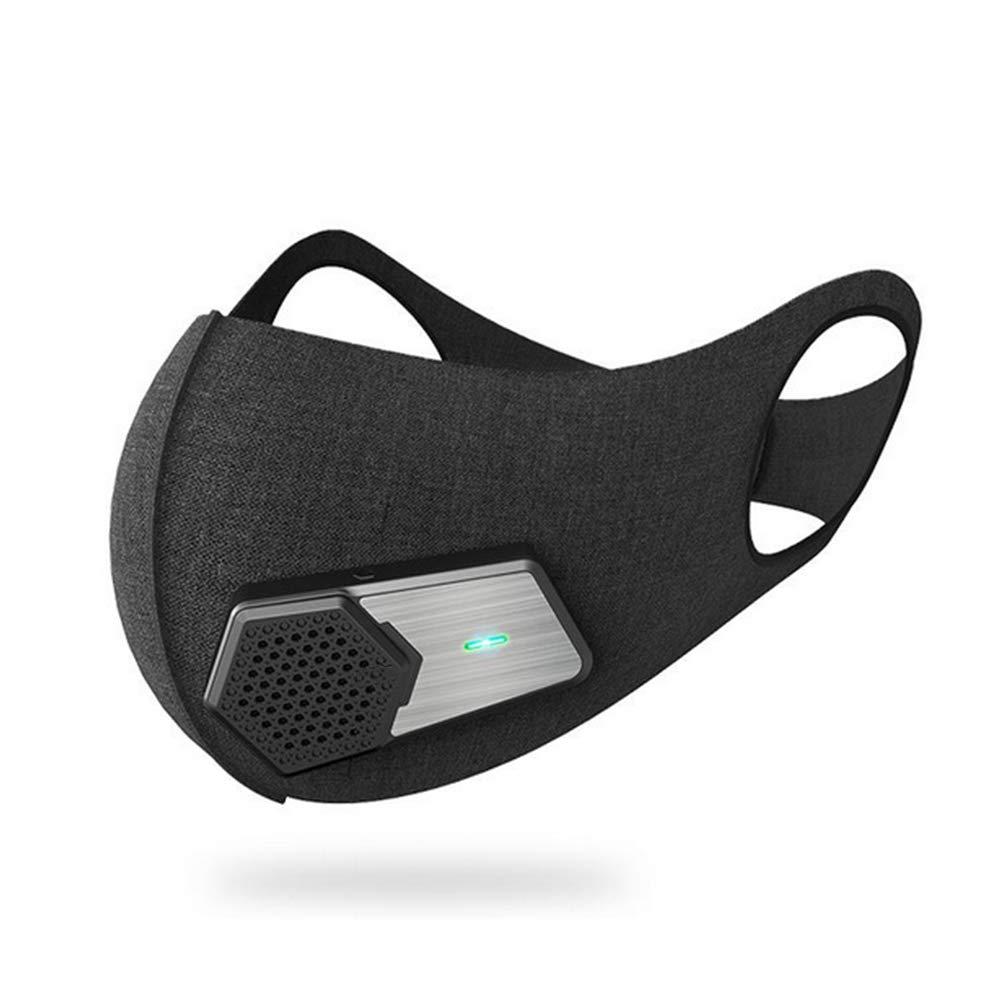 TZTED Staubmaske Atemmaske Fahrradmaske Verschluß Ventil Intelligenter Nasenluftreiniger Elektrische Atmung Feinstaubmaske Fitnessmaske PM2.5