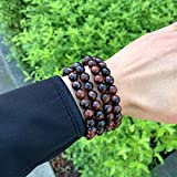 Natural Red Tiger Eye Gemstone Bracelet 7 inch