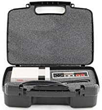 Life Made Better Storage Organizer - Compatible with Nintendo NES Classic Mini Game Console, Two Controllers And Accessories- Durable Carrying Case - Black