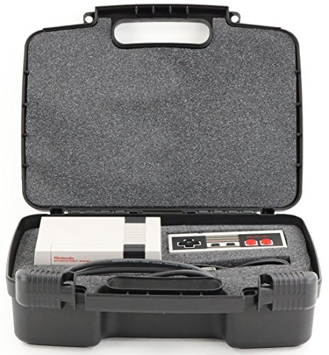 Hard Storage Carrying Case For Gaming Consoles Fits Nintendo NES Classic Mini Game Console, Two Controllers and Accessories - Princess Computer Keyboard