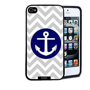 Iphone 5 5S Case Thinshell Case Protective Iphone 5 5S Case Shawnex Anchor Grey Chevron