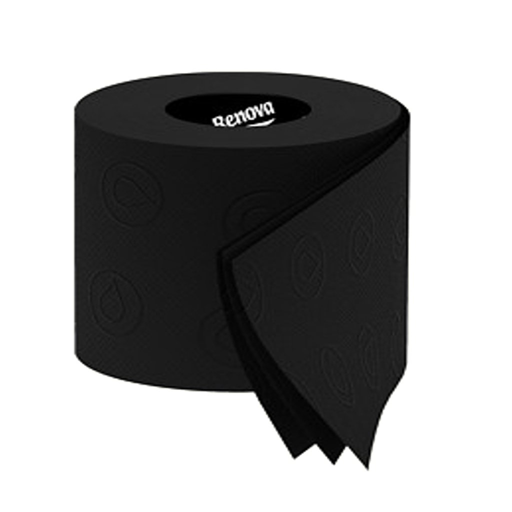 Amazon Renova 3 Ply Soft Colour Toilet Loo Bathroom Tissue Paper Rolls 6 Pack BLACK Health Personal Care