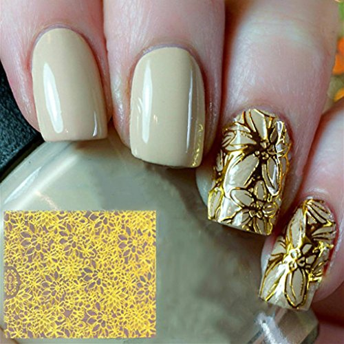8 Pcs Water Transfer Sheet Nail Art Sticker Decal Beauty Tips Decoration - 6
