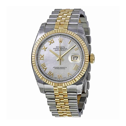 Rolex Oyster Perpetual Datejust 36 Mother of Pearl Dial Stainless Steel and 18K Yellow Gold Rolex Jubilee Automatic Mens Watch (Rolex Datejust Perpetual)