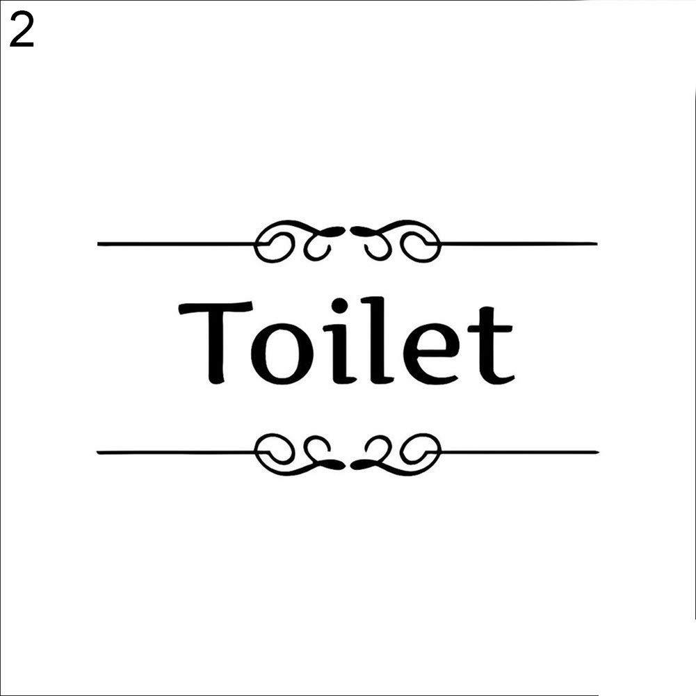 Yevison Removable Waterproof Bathroom Toilet Door Wall Decal Sticker Home DIY Decor Toilet High Quality