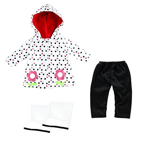 Doll Clothes Rain Coat Outfit wi...