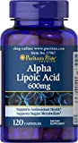 Puritans Pride Alpha Lipoic Acid 600 Mg, 120 Count For Sale