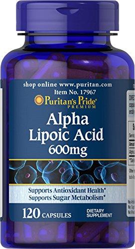 Puritans Pride Alpha Lipoic Acid 600 mg-120 Capsules