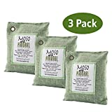 Moso Natural Air Purifying Bag. Odor Eliminator for Cars, Closets, Bathrooms and Pet Areas. Captures and Eliminates Odors. (Green, 3 Pack)