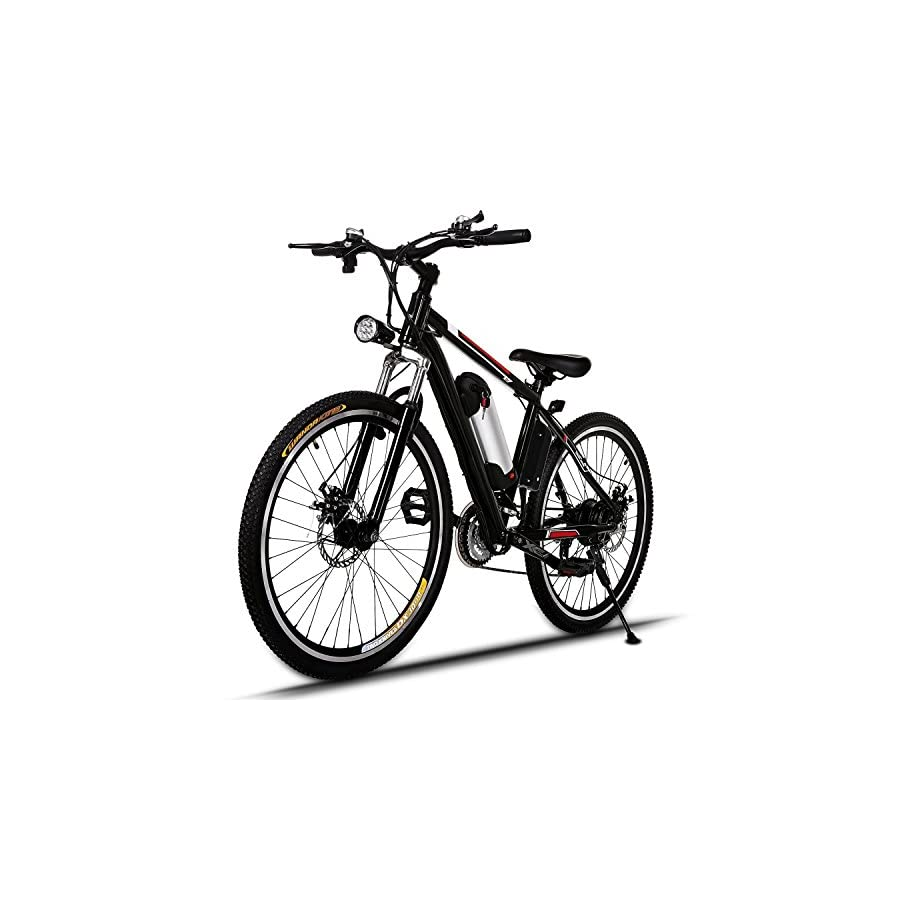 Electric Mountain Bike E Bicycle, E bikes with Large Capacity Lithium Ion Battery, Battery Charger, 250W 26 Inch Wheel (US STOCK)