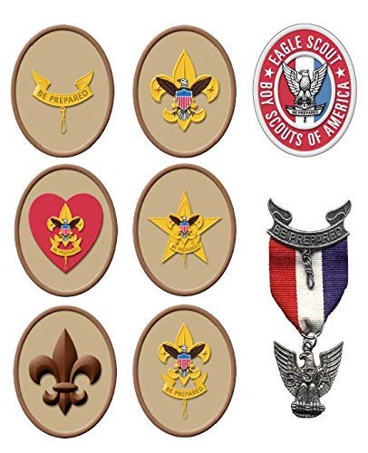Eagle Scout edible sheet, Boy scout party decorations,Eagle, used for sale  Delivered anywhere in USA
