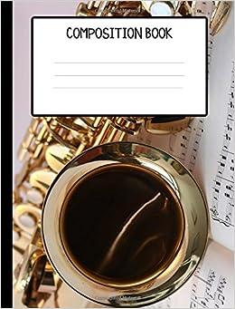 Amazon com: Saxophone Composition Book (9781973828167): Art