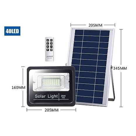 Proyector solar for exteriores con control remoto, proyector de ...