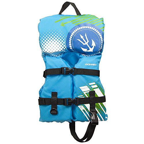 - Oceans7 US Coast Guard Approved, Infant Life Jacket, Type II Vest, PFD, Personal Flotation Device, 30 lbs or less, Aqua