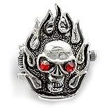 S.CO. Fashion Fire Cranium / Scull / Skull Head Skeleton Ring Watch for Men or Women