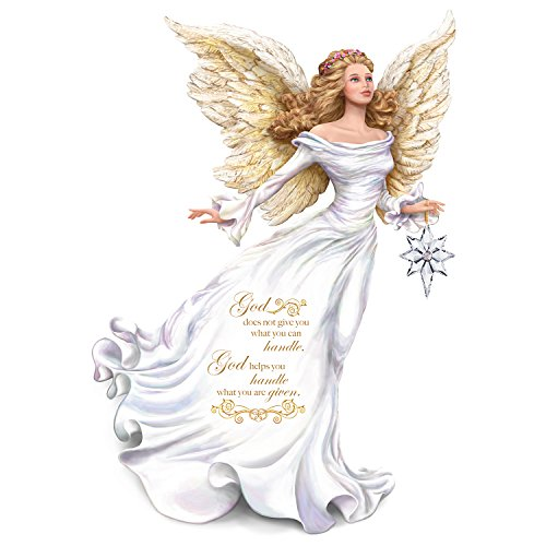 Dona Gelsinger Angel Figurine Carries Glass Star with Swarovski Crystal by The Hamilton Collection (Glass Angels Figurines)