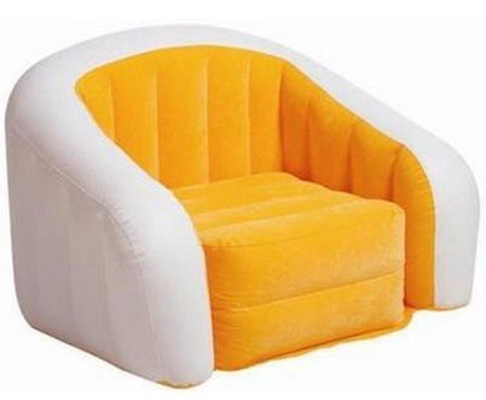 Amazoncom Intex Orange Inflatable Cafe Club Chair Kitchen Dining