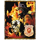 Firefighter Dalmation Canadian Tapestry Throw Blanket