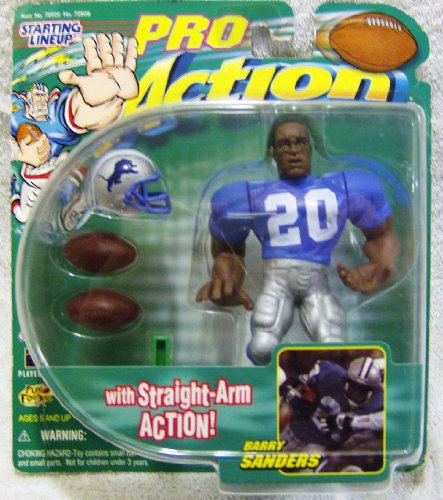 Starting Lineup Pro Action Detroit Lions Barry Sanders #20 F