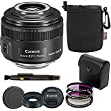 Canon 35mm f/2.8 Macro IS STM Lens with Ritz Gear Small Protective Pouch, 49mm 3 Pc. Digital Filter Set and TD Lens Cleaning Pen Accessory Bundle