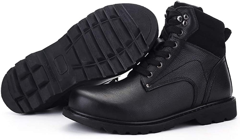 CHENDX Shoes, Men's Fashionable Winter High Top Ankle Boots Casual Outdoor Lacing Outsole Work Boots Black