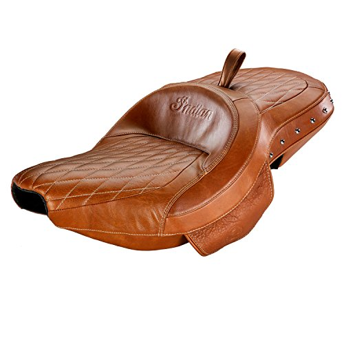Indian Chief Chieftain Roadmaster TAN Studded Leather Extended Reach Heated SEAT