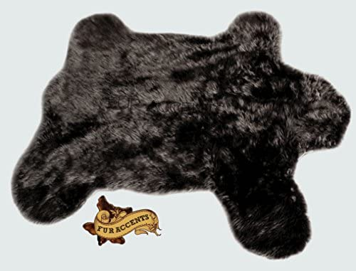 Fur Accents Traditional Bear Skin Rug Plush Faux Fur 5'x7'