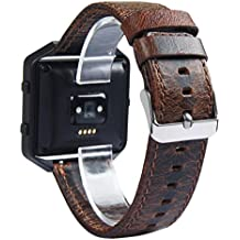 Alonea Retro leather Watch Bracelet Strap Band For Fitbit Blaze Smart Watch (without watch frame)