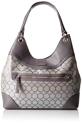 Nine West 9 Jacquard Shoulder Bag, Dark Grey/Dark Aluminum