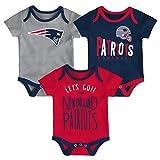 NFL by Outerstuff NFL New England Patriots Newborn & Infant Little Tailgater Short Sleeve Bodysuit Set Dark Navy, 12 Months