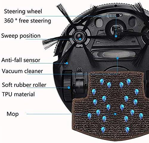 A FANG Robot Balayer, Aspirateur Ultra-Mince Silencieux Intelligent, Automatique Tout-en-Un Mopping Machine De Nettoyage pour Sols Difficiles À Bas Pile Tapis Accueil,B D