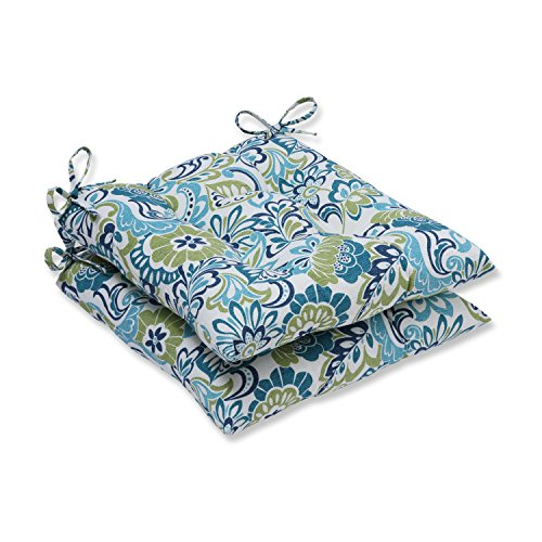 Pillow Perfect Outdoor Indoor Zoe Mallard Wrought Iron Seat Cushion Set of 2