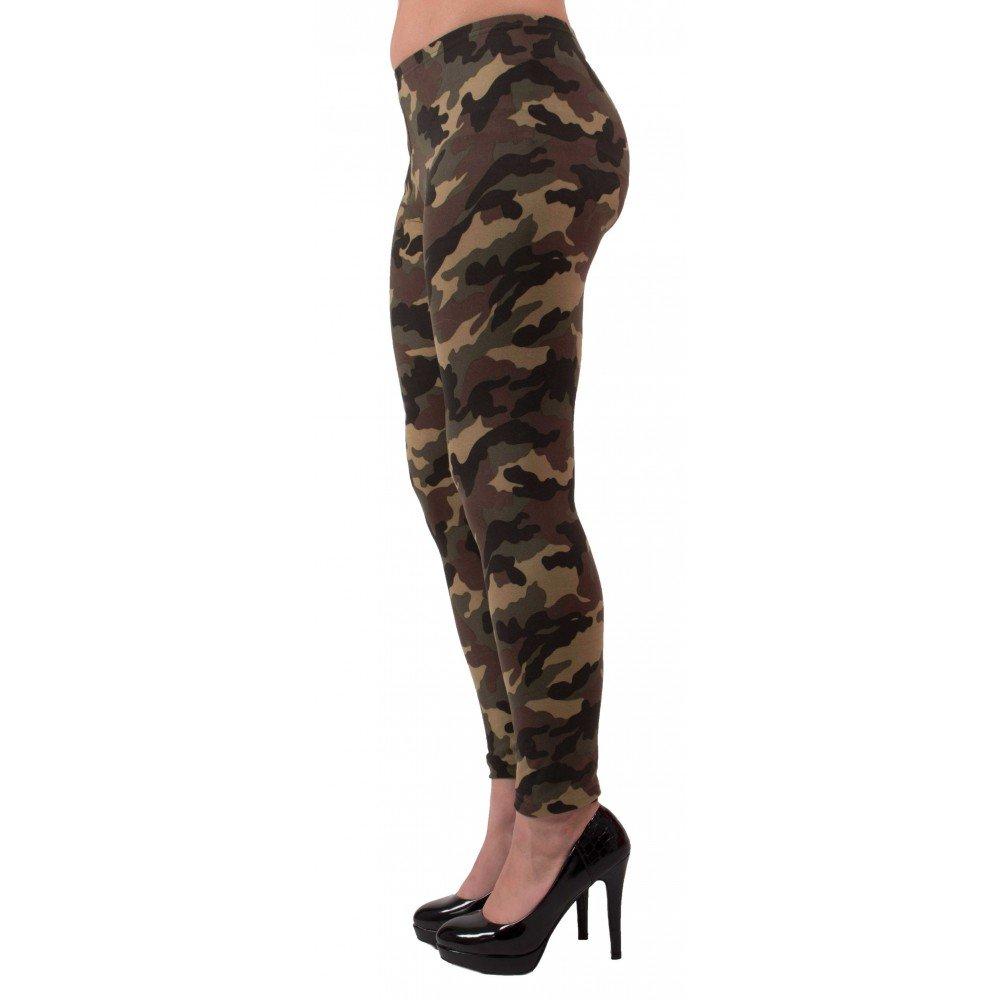 cfa51e3df10 Primtex Legging Militaire Femme Kaki Motif Army Camouflage-Taille Unique   Amazon.fr  Vêtements et accessoires