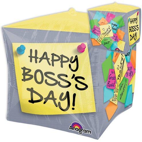 LuftBalloons 15 Inch Cubez Boss's Day Sticky Notes Balloon
