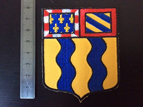 ECUSSON PATCHES AUFNAHER TOPPA - BLASON DEP 71 SAONE ET LOIRE - THERMOCOLLANT BLUE HAWAI
