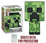 minecraft skeleton head - Funko 8-Bit Pop! Games: Minecraft - Creeper Vinyl Figure (Bundled with Pop Box Protector Case)